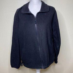 Columbia black zip front polyester full zip